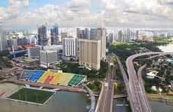 Σιγκαπούρη Άποψη από ένα ύψος Στοκ φωτογραφία με δικαίωμα ελεύθερης χρήσης