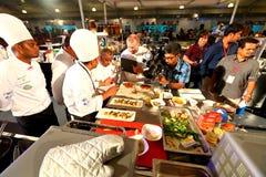 Σιγκαπούρη: Ανταγωνισμός τροφίμων Στοκ Εικόνες