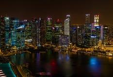 ΣΙΓΚΑΠΟΎΡΗ - 14 ΑΠΡΙΛΊΟΥ: Ορίζοντας πόλεων της Σιγκαπούρης και κόλπος μαρινών στο Α Στοκ εικόνες με δικαίωμα ελεύθερης χρήσης