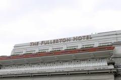 Σιγκαπούρη - 10 Αυγούστου 2013: Το ξενοδοχείο Fullerton Στοκ φωτογραφία με δικαίωμα ελεύθερης χρήσης