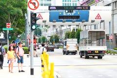 Σιγκαπούρη: Ηλεκτρονική οδική τιμολόγηση στοκ φωτογραφίες