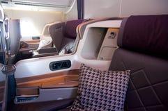 ΣΙΓΚΑΠΟΎΡΗ - 22 ΙΟΥΛΊΟΥ 2016: Επιχειρησιακή κατηγορία στο airbus A350 Στοκ φωτογραφία με δικαίωμα ελεύθερης χρήσης