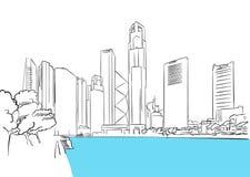 Σιγκαπούρη κεντρικός, περιοχή Plaza χρηματοδότησης ελεύθερη απεικόνιση δικαιώματος