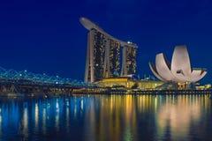Σιγκαπούρη & μπλε ώρα στοκ εικόνες
