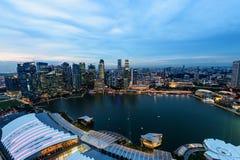 ΣΙΓΚΑΠΟΎΡΗ - 22 ΝΟΕΜΒΡΊΟΥ 2016: Κεντρικός Αστικό τοπίο της Σιγκαπούρης Στοκ Εικόνες