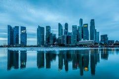 Σιγκαπούρη στην αυγή Στοκ φωτογραφία με δικαίωμα ελεύθερης χρήσης