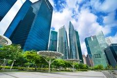 Αστικό τοπίο της Σιγκαπούρης Στοκ Εικόνα