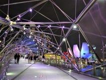 Σιγκαπούρη τή νύχτα στοκ εικόνες με δικαίωμα ελεύθερης χρήσης