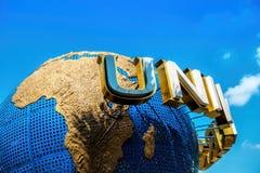 ΣΙΓΚΑΠΟΎΡΗ - ΥΧΕ, 28 UNIVERSAL STUDIO ΣΙΓΚΑΠΟΎΡΗ ΤΟΝ ΟΚΤΏΒΡΙΟ 28.2014 Είναι ένα πάρκο στον κόσμο Sentosa, Σιγκαπούρη θερέτρων Στοκ Εικόνες