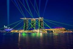 Σιγκαπούρη & φω'τα στοκ φωτογραφία