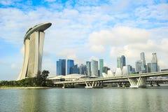Πανόραμα της Σιγκαπούρης Στοκ φωτογραφία με δικαίωμα ελεύθερης χρήσης