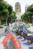 Σιγκαπούρη Sentosa Merlion και πάρκο Merlion, Σιγκαπούρη, Δεκέμβριος Στοκ εικόνα με δικαίωμα ελεύθερης χρήσης
