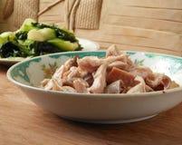 Σιγοβράστε το στομάχι χοίρων και pok το λαχανικό choi Στοκ Φωτογραφία