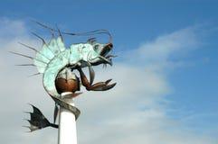 σιδερώστε sheatfish πιάτων Στοκ Εικόνες