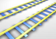 σιδηροδρομικές γραμμές διανυσματική απεικόνιση