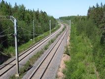 σιδηροδρομικές γραμμές Στοκ φωτογραφία με δικαίωμα ελεύθερης χρήσης