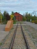 Σιδηροδρομική γραμμή καροτσακιών προκυμαιών σε Whitehorse στοκ εικόνες