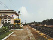 Σιδηροδρομικός σταθμός πόνου κτυπήματος στοκ φωτογραφία με δικαίωμα ελεύθερης χρήσης