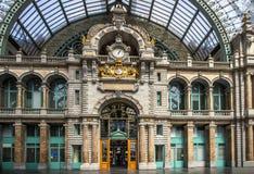 Σιδηροδρομικός σταθμός σε Antwerpen Βέλγιο Στοκ φωτογραφίες με δικαίωμα ελεύθερης χρήσης
