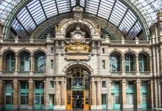 Σιδηροδρομικός σταθμός σε Antwerpen Βέλγιο Στοκ Φωτογραφία