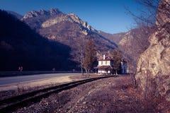Σιδηροδρομικός σταθμός στη βαλκανική χερσόνησο Στοκ Φωτογραφία