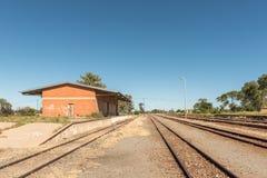 Σιδηροδρομικός σταθμός στο χωριό της Μασσαλίας στην ελεύθερη κρατική επαρχία Στοκ εικόνα με δικαίωμα ελεύθερης χρήσης