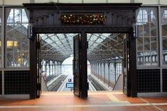 Σιδηροδρομικός σταθμός στο BECK LÃ ¼ Στοκ Εικόνες