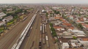Σιδηροδρομικός σταθμός στο Surabaya Ινδονησία απόθεμα βίντεο