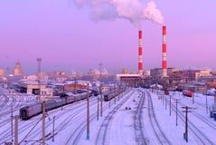 Σιδηροδρομικός σταθμός της Μόσχας Kiyevsky, Μόσχα, Ρωσία στοκ φωτογραφία με δικαίωμα ελεύθερης χρήσης