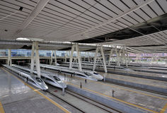 Σιδηροδρομικός σταθμός του Πεκίνου, υψηλή ταχύτητα ââRail Στοκ Εικόνες