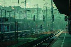 Σιδηροδρομικός σταθμός Στοκ εικόνα με δικαίωμα ελεύθερης χρήσης