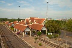 Σιδηροδρομικός σταθμός Chiang rak Στοκ Φωτογραφίες