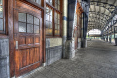 σιδηροδρομικός σταθμός &ta Στοκ Εικόνες