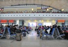 Σιδηροδρομικός σταθμός Wuhan στοκ εικόνα με δικαίωμα ελεύθερης χρήσης