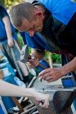 Σιδηρουργός στην εργασία Στοκ φωτογραφίες με δικαίωμα ελεύθερης χρήσης