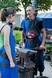 Σιδηρουργός στην εργασία Στοκ Εικόνα