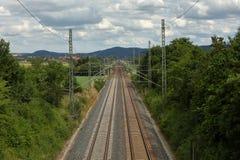 Σιδηρόδρομοι και διαδρομή σιδηροδρόμου Στοκ Φωτογραφία