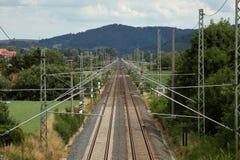Σιδηρόδρομοι και διαδρομή σιδηροδρόμου Στοκ Εικόνα