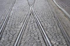Σιδηρόδρομοι τραμ στην Κρακοβία Στοκ Εικόνα