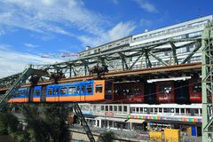 Σιδηρόδρομος αναστολής στο Βούπερταλ Στοκ φωτογραφία με δικαίωμα ελεύθερης χρήσης