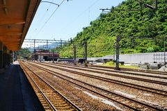 σιδηρόδρομος βουνών Στοκ φωτογραφία με δικαίωμα ελεύθερης χρήσης