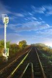 σιδηρόδρομος νύχτας Στοκ Φωτογραφίες
