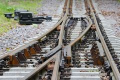 σιδηρόδρομος σταυροδρομιών Στοκ Εικόνες