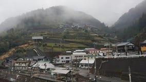 Σιδηρόδρομος στη βουνοπλαγιά στην Ιαπωνία στοκ φωτογραφίες με δικαίωμα ελεύθερης χρήσης