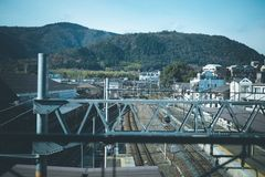 Σιδηρόδρομος στο Κιότο στοκ εικόνες