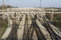 σιδηρόδρομος συνδέσεων Στοκ Φωτογραφία