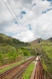 σιδηρόδρομος τίτλων προς τη σήραγγα διαδρομών Στοκ Εικόνες