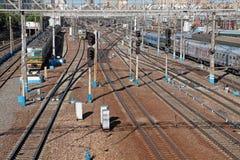 σιδηρόδρομος της Μόσχας στοκ φωτογραφία με δικαίωμα ελεύθερης χρήσης