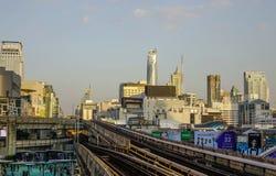 Σιδηρόδρομος του συστήματος μαζικής μεταφοράς τραίνων ουρανού BTS στοκ φωτογραφία με δικαίωμα ελεύθερης χρήσης