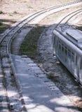 Σιδηρόδρομος του τραίνου αντιγράφου Στοκ Φωτογραφία